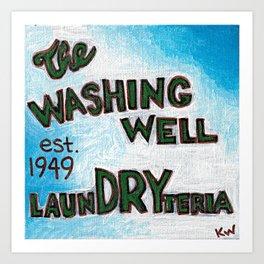 The Washing Well Art Print