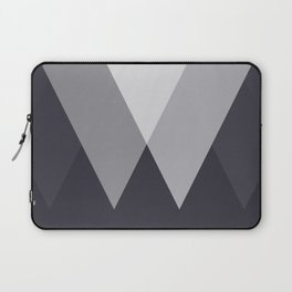 Sawtooth Inverted Blue Grey Laptop Sleeve