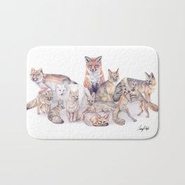 Foxes of the World Bath Mat