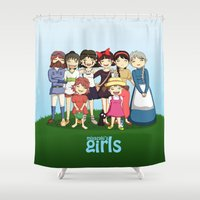 ponyo Shower Curtains featuring Miyazaki Girl's by TubaTOPAL