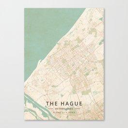 The Hague, Netherlands - Vintage Map Canvas Print