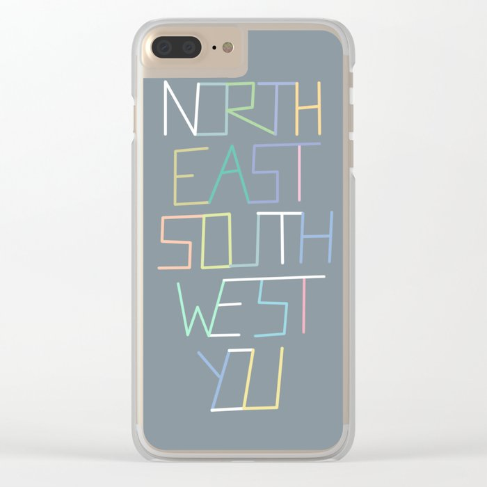 North East South West You Clear iPhone Case