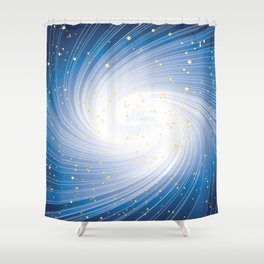 Stars, Light and Motion in space Shower Curtain