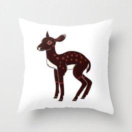 a Deer a Doe Throw Pillow
