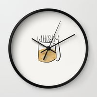whisky Wall Clocks featuring Whisky  by N140