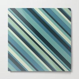 Diagonal Blue Metal Print