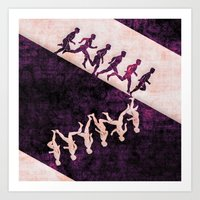 run Art Prints featuring run by KrisLeov