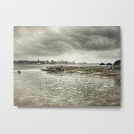 Mississippi River - Davenport, Iowa - Winter 2017 Metal Print