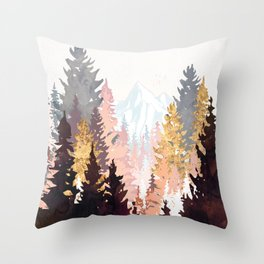Wine Forest Throw Pillow