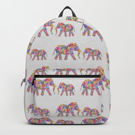 Floral Elephants Backpack