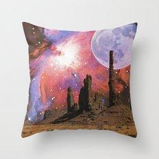 Nebula Desert Collage I Throw Pillow