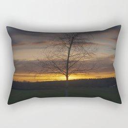 Sunset at the end of town Rectangular Pillow
