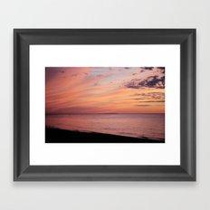 Sunset at the Lake Framed Art Print