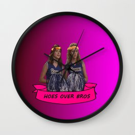 hoes over bros Wall Clock