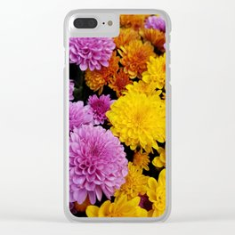 Bunches of Mums Clear iPhone Case