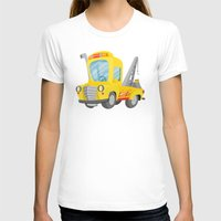 truck T-shirts featuring tow truck by Alapapaju