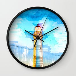 Lighthouse At Night In Australia - For Lighthouse Lovers Wall Clock