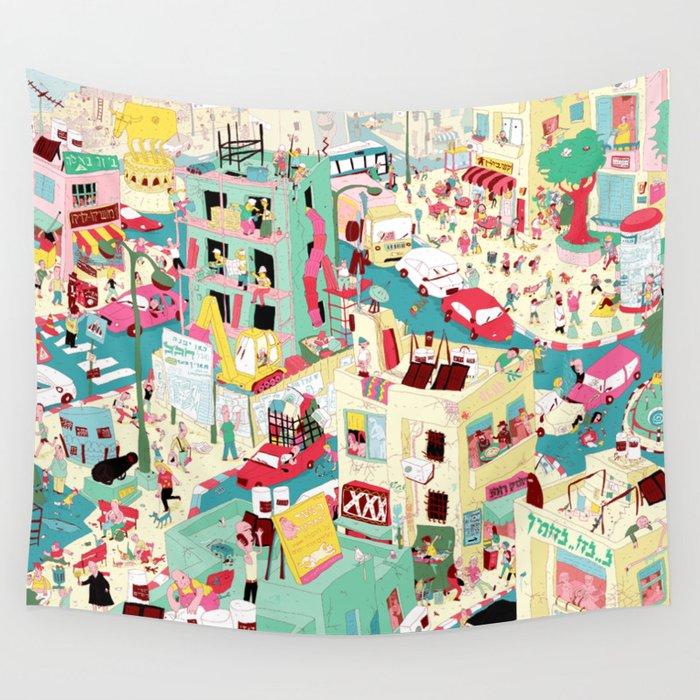 Ungeheuerlich Tel-Aviv Wall Tapestry