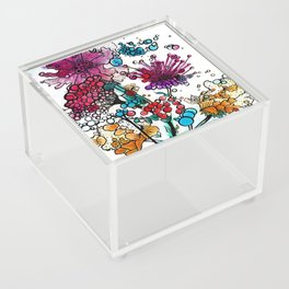 Floral watercolor abstraction Acrylic Box