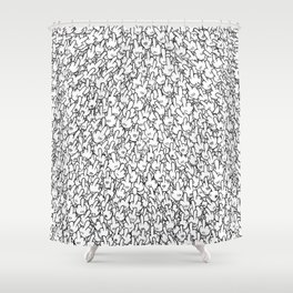 Middle fingers of Mickey Mouse Shower Curtain