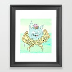 PIZZACAT I Framed Art Print