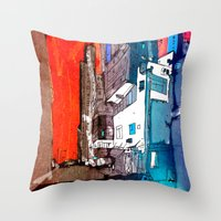 hong kong Throw Pillows featuring Hong Kong by Jonas Ericson