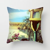 china Throw Pillows featuring China by courtneeeee