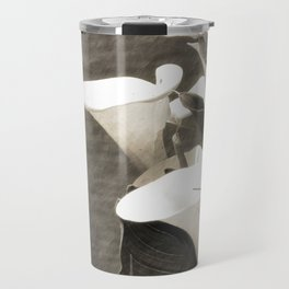 Calla Lily Flower Sepia Photo Travel Mug