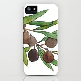 Olive leaf iPhone Case