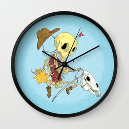 Cowboy Skull Wall Clock