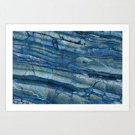 Ocean Depths Blue Marble Art Print