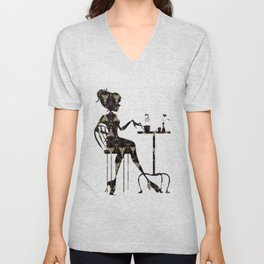 Coffee and Plums Unisex V-Neck