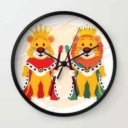 Lion And Queen Wall Clock