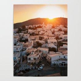 Milos Island Sunset Poster