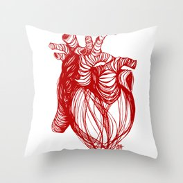 cardio . valentine Throw Pillow