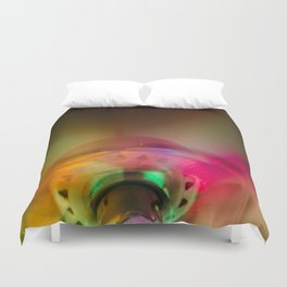 Colorful fan  Duvet Cover
