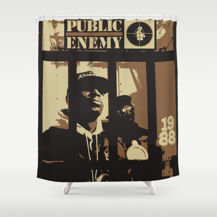 Public Enemy 1988 Shower Curtain