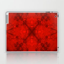 Red star kaleidoscope pattern Laptop & iPad Skin