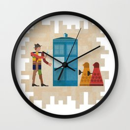 ancient doctors and daleks oh my! Wall Clock