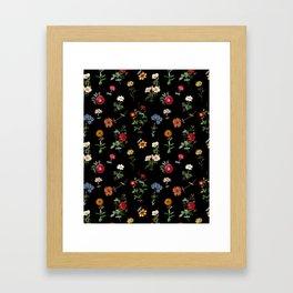 Vertical Garden (Black) Framed Art Print