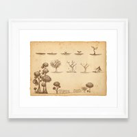 tree of life Framed Art Prints featuring Tree Life by Mono Ahn