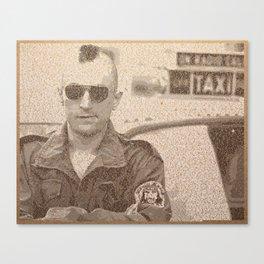 Text Portrait of Robert DeNiro with Full Script of Taxi Driver Canvas Print