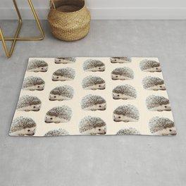 cute beige woodland animal baby hedgehog Rug