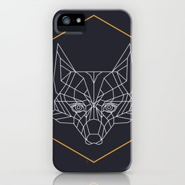 Gometric fox iPhone Case