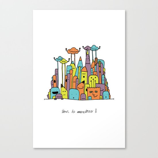 Monster Tower II Canvas Print