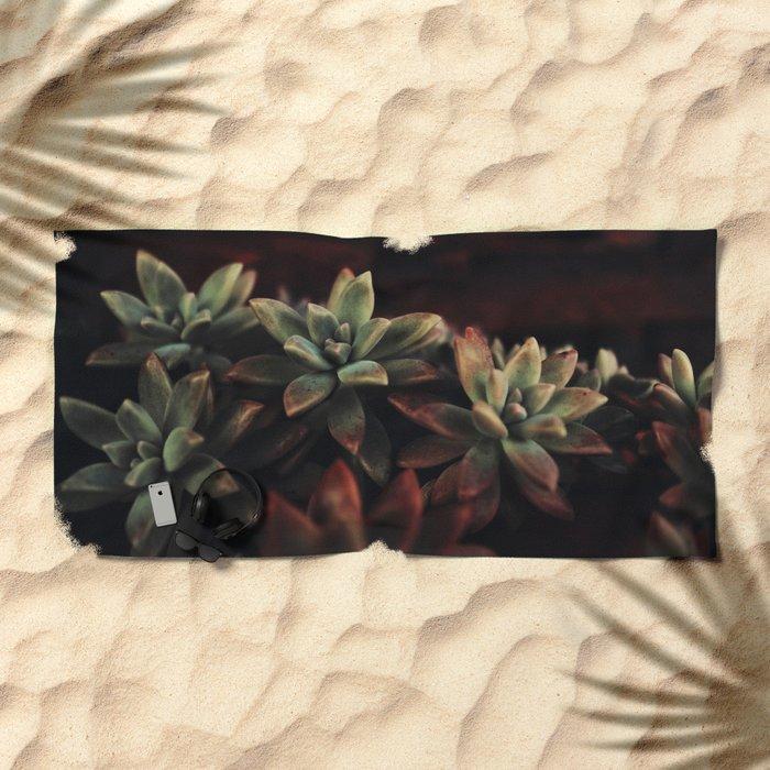succulent cactus Beach Towel
