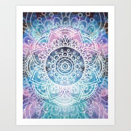 Mandala Dream | Watercolor Galaxy Painting Art Print