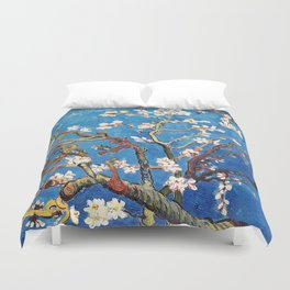 Van Gogh Branches of an Almond Tree in Blossom Duvet Cover