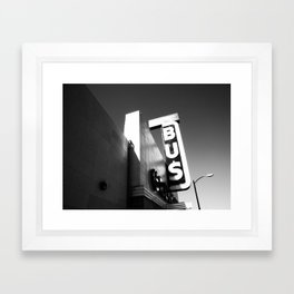 point of departure Framed Art Print