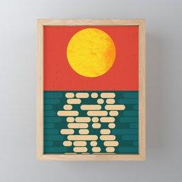 Sun Over The Sea - Afternoon Framed Mini Art Print